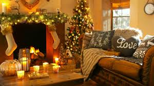 Christmas Home Decoration Pic 2560x1440 Christmas New Year Home Light Fire Fireplace