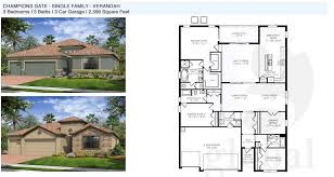Single Family Home Floor Plans by Champions Gate Floor Plans