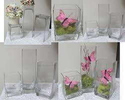 3 glass vases flower vases glass vase reception table vases
