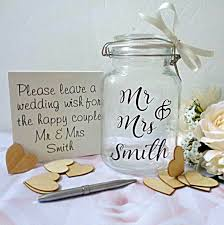 wedding wish jar wedding jar jar of hearts wedding guest book wedding