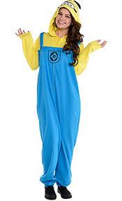 Minion Halloween Costume Girls Minute Halloween Choicesadult Minion Piece Pajamas