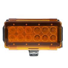 Led Light Bar Lens Cover by 6 Off Road Led Light Bar Lens Cover Amber Diffuse 2 Pack Or Cov