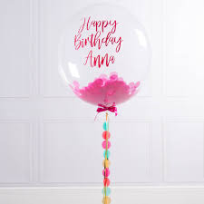 personalised birthday balloons personalised birthday confetti filled balloon by bubblegum