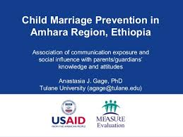 marriage slogans child marriage prevention in amhara region