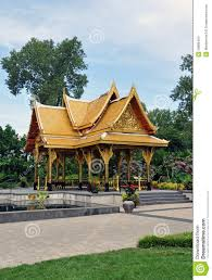 asian gazebo in botanical gardens stock photo image 39886494