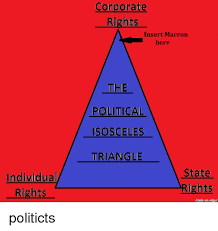 Scalene Triangle Meme - individual rights corporate rights insert macron here the political