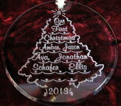personalized tree ornaments lights decoration