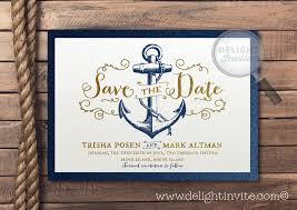 nautical save the date save the date rustic nautical anchor invitation di 5004sd