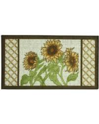 kitchen accent rug deals on bacova sunflower frame kitchen accent rug