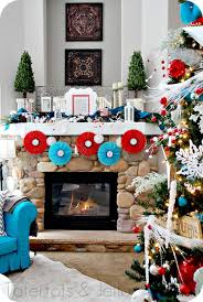 home decoration unique christmas mantels decoration colorful