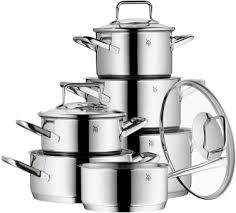 batterie de cuisine pour induction wmf batterie de cuisine 6 pièces trend jeux de casseroles pour