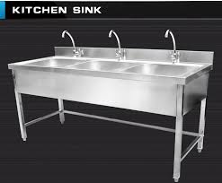 Used Kitchen Cabinets Atlanta Triple Bowls Stainless Steel Kitchen Sink Cabinet With Faucets