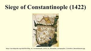 Map Of Constantinople Siege Of Constantinople 1422 Youtube