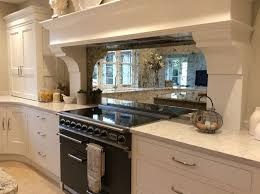 Mirrored Kitchen Backsplash Kitchen Design Antiqued Mirror Splashback Mirrored Kitchen Tiles