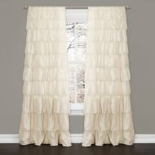 Pink Ruffle Blackout Curtains Choosing The Best White Ruffle Curtains For Living Room Amazing