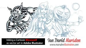 Draw Halloween Drawing Tutorial How To Draw A Cool Cartoon Werewolf For