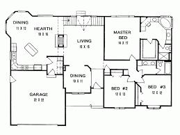 3 bedroom house plan modern house plans floor plan for 3 bedroom split six large 2 with