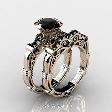 black gold wedding sets all about black wedding rings for women wedding rings band