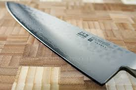 yaxell zen chef knife 20cm damascus hammered blade