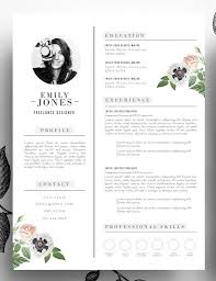 layout cv adorable editable floral 2 page resume template in psd format and