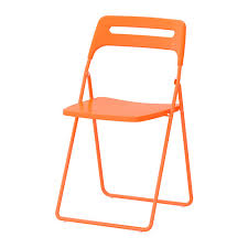 Stackable Chairs Ikea Nisse Folding Chair Orange Folding Chairs Spaces And Walls