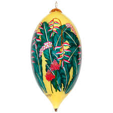 pink heliconia ornament by design