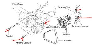 2003 toyota tundra alternator remove alternator