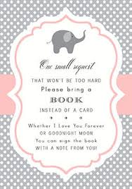 bring a book instead of a card baby shower matching insert book cards choose your invitation and matching