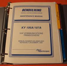 king ky 196a ky 197a aircraft comm maintenance manual u2022 95 00