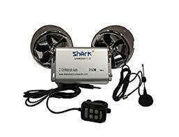 avec radio moto shark shkmsdhrs7170bt 250w 2 haut parleurs audio et radio fm