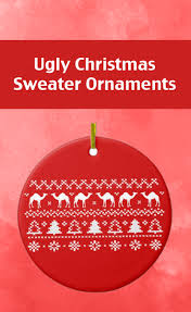 ugly holiday sweater christmas tree ornaments