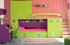 Bunk Bed Tidy Room Awesome Minimalist Green Purple Pink Bunk Beds
