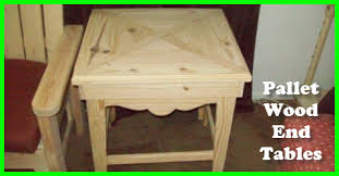 Wood End Tables A Pair Of Gorgeous Tables From Pallet Wood Gotta Go Do It