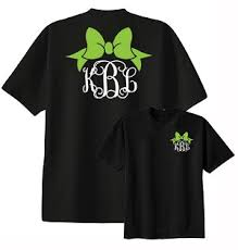 bow monogram bow monogram shirt