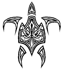drawn sea turtle tribal pencil and in color drawn sea turtle tribal