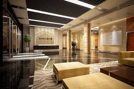 Luxury Lobby Design - lobby hall 3d office interior cgtrader