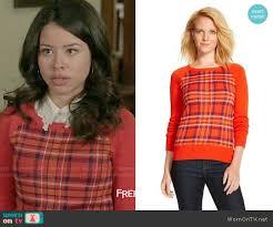 sweater target wornontv mariana s plaid sweater on the fosters cierra