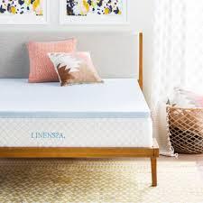 linenspa 2 inch gel infused memory foam mattress topper full