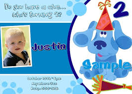 get blues clues birthday invitations ideas free printable