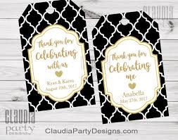 thank you tags black and gold favor tags black and gold thank you tags