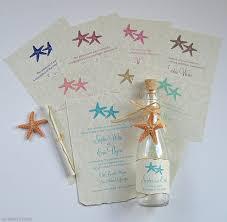 wedding invitations in a bottle wedding invitations seaside starfish glass bottles