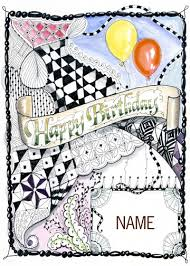 Doodle Birthday Card 85 Best Cards Birthday Zentangle Doodle Images On Pinterest