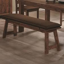 maddox rustic brown wood dining bench steal a sofa furniture