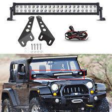 jeep jk hood led light bar fog driving lights for 2007 jeep wrangler ebay