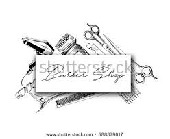 professional hairdresser tools copy space hand stock vector