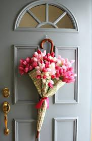 spring door wreaths diy umbrella and flowers door wreaths for spring diy crafts