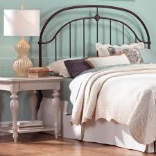 fashion bed group cascade queen size headboard with metal panel