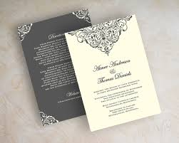 chic formal wedding invitations imposing formal wedding invitation
