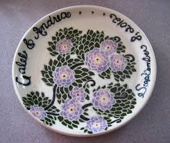 personalized wedding platter 71 best wedding platters images on pottery painting