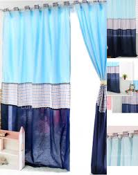 Nursery Curtains Sale And Solid Combination Style Baby Blue Curtains For Bedroom